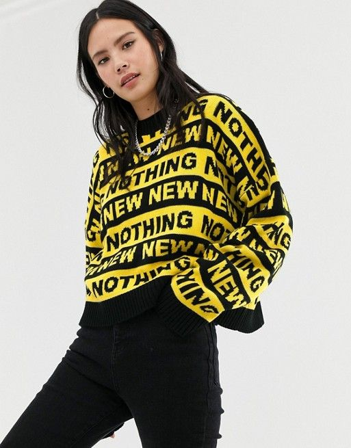 Ragged Jeans knitted jumper with slogan stripe | ASOS