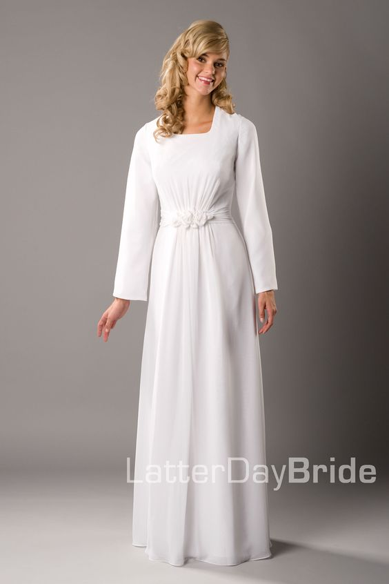 Modest wedding dress brigham latterdaybride prom for Mormon temple wedding dresses
