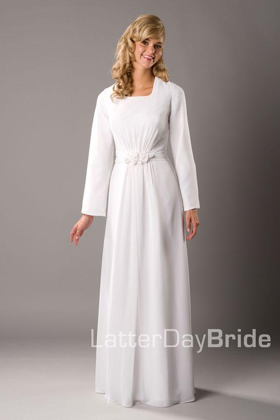 Modest wedding dress brigham latterdaybride prom for Mormon temple wedding dresses