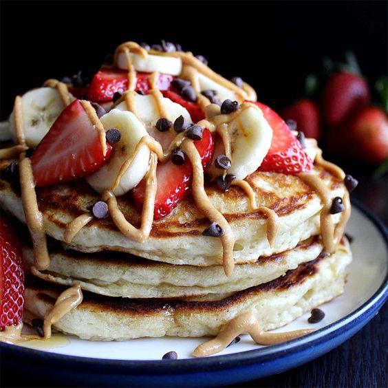 Healthy Banana Pancakes by @wyldflour1370 - #KeepOnCooking #Breakfast #Brunch #Fruit  #Vegetarian: