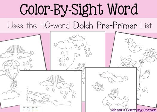Worksheets Primer Sight Word Worksheets pinterest the worlds catalog of ideas 5 page color by sight word worksheets using 40 dolch pre