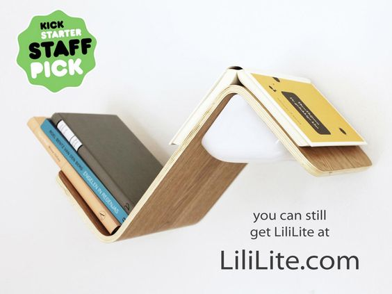 A bookshelf, reading light, and bookmark combined into one smart product. Pre-order LiliLitenow at: