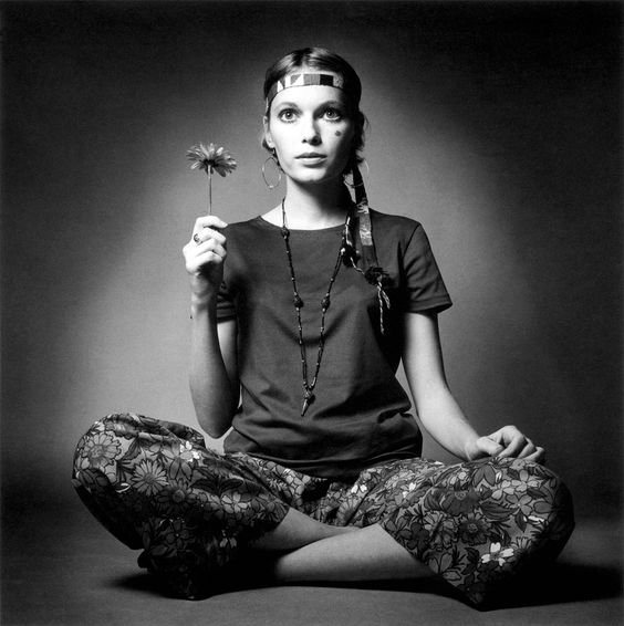 Mia Farrow.  Photo by Jeanloup Sieff.  French Vogue, 1969.