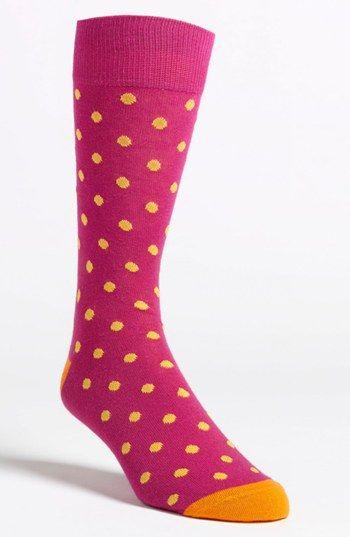 Lorenzo Uomo Dot Socks available at #Nordstrom