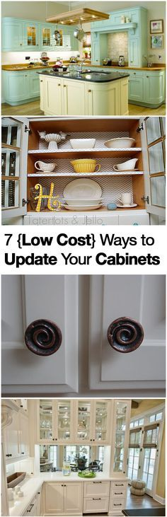 7 Ways to Update Your Cabinets and Give Them a Makeover- On a Budget!