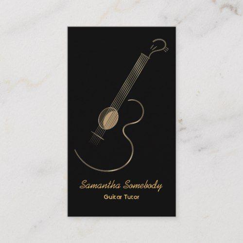 Acoustic Guitar Logo Business Card Template Zazzle Com Business Card Logo Business Card Template Guitar Logo