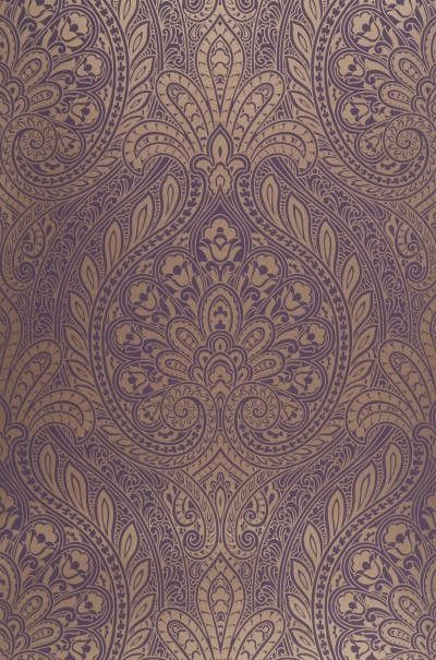Curtains Ideas curtains matching wallpaper : Gold and purple paisley (matching the curtains) living room ...