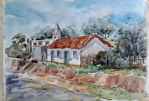 Itapira. Aquarela de João Alves.