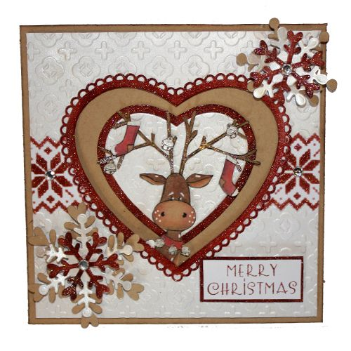 This is the gorgeous new Rufus the Reindeer set from Hobby Art. Clear set contains 15 stamps. Overall size of set - 100mm x 260mm approx. All our clear stamps are made with photopolymer resin. This Stunning card was made by Sally Dodger: