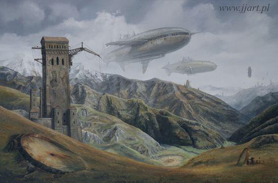 Art Surrealism - Jaroslaw Jasnikowsi - Tuszetia I