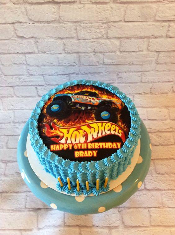 Hot wheels edible image cake