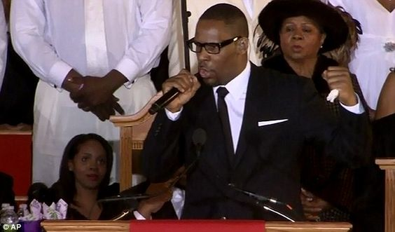 r kelly whitney houston funeral - Google Search