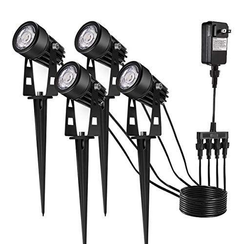 Upgrade Led Outdoor Spotlight Greenclick 4 Pack 12v Low V Https Www Amazon Com Dp B075t636r Led Landscape Lighting Landscape Lighting Lighting Inspiration