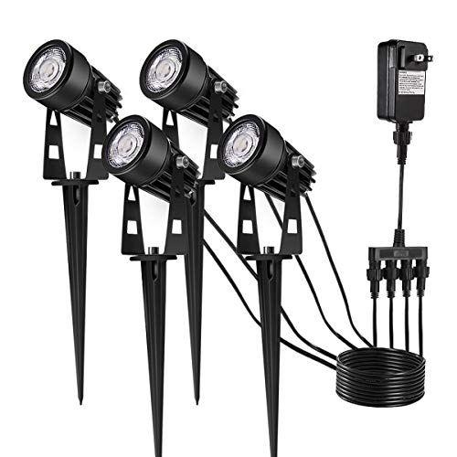 Upgrade Led Outdoor Spotlight Greenclick 4 Pack 12v Low V Https Www Amazon Com Dp B075t636r Led Landscape Lighting Landscape Lighting Lighting Inspiration
