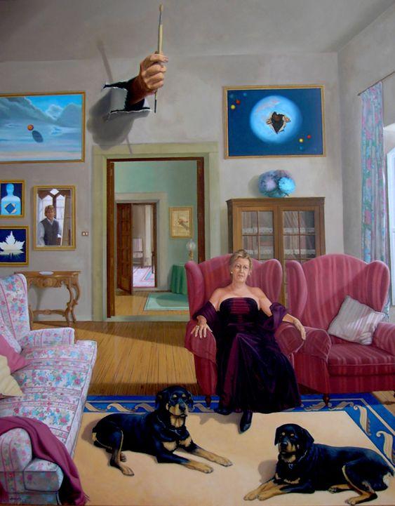 ESENCIA DE MUJER, óleo sobre lienzo de lino de 160x130cm. Obra realizada en el año 2.001.