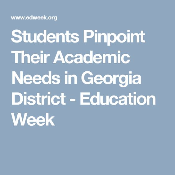 Students Pinpoint Their Academic Needs in Georgia District - Education Week