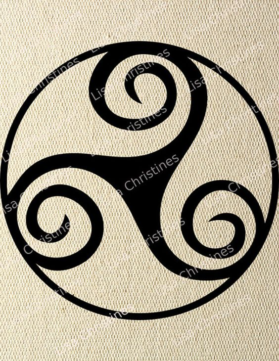 Clipart Digital Transfer Image Celtic Triskell by LisaChristines ...