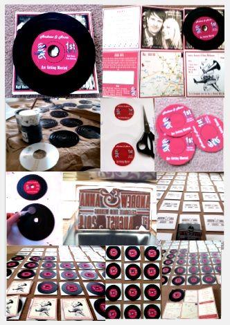 Diy Mini Vinyl Wedding Invitations Fridge Magnets 1