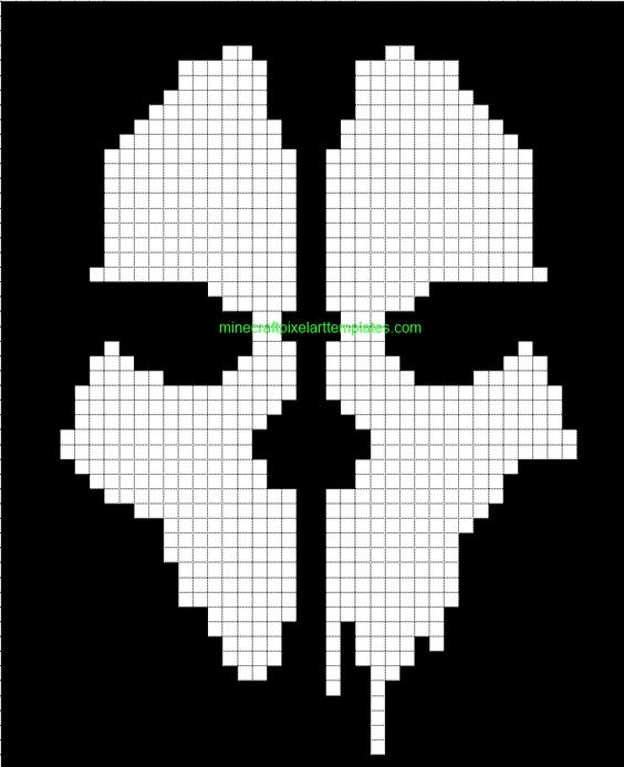 Minecraft pixel art templates cod ghosts pinterest for Ou apparait la pelle dans artisanat minecraft