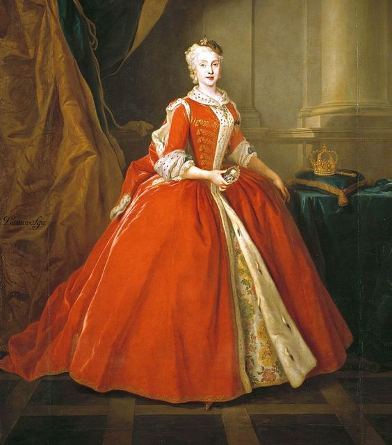 Portrait of the Princess Maria Amalia of Saxony in Polish costume Louis de Silvestre Oil on canvas ca. 1738:
