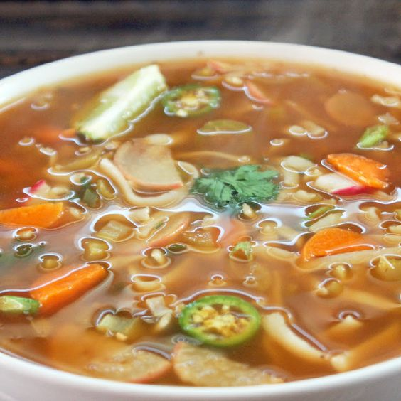 Spicy Thai Noodle Soup Recipe Soups with vegetable broth, rice noodles ...