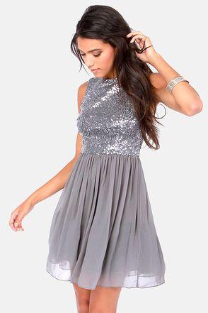 BB Dakota Holly Silver Sequin Dress - Pinterest - Long tulle ...