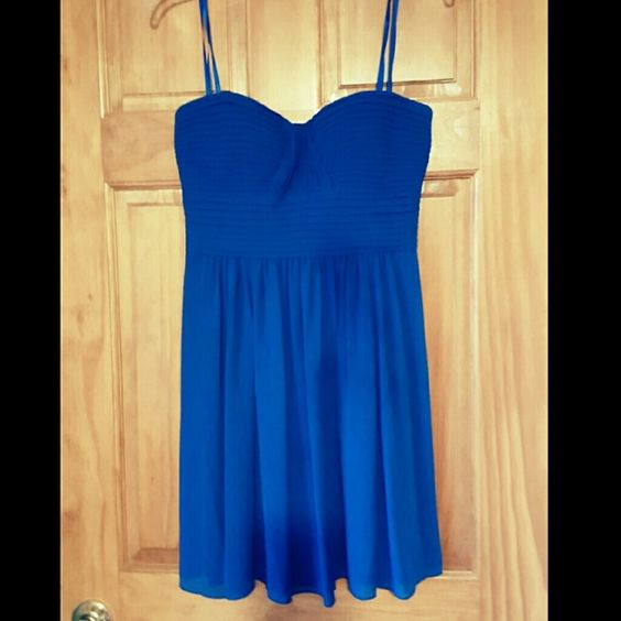 Cobalt Blue BCBG Dress Only worn once and it was my homecoming dress! BCBGMaxAzria Dresses Strapless
