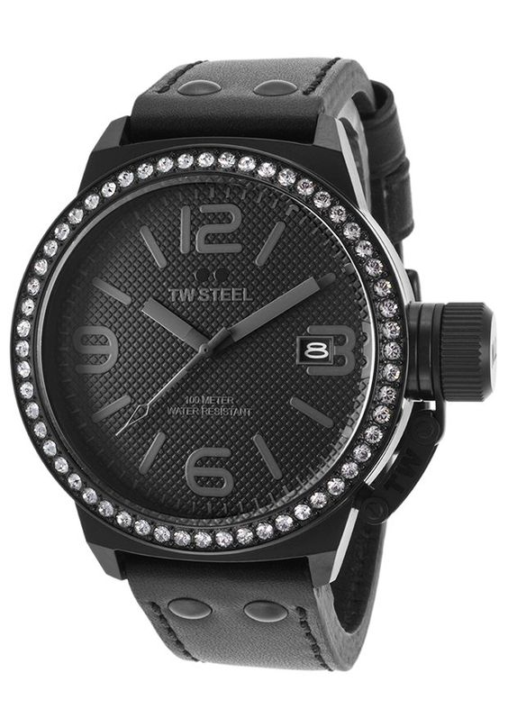 TW Steel Watches Unisex Canteen Black Genuine Leather Black Dial TW912,    #TWSteel,    #TW912,    #Fashion