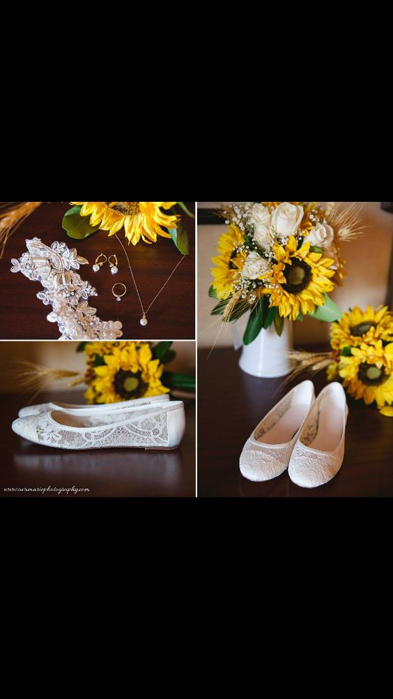 Sunflowers and lace