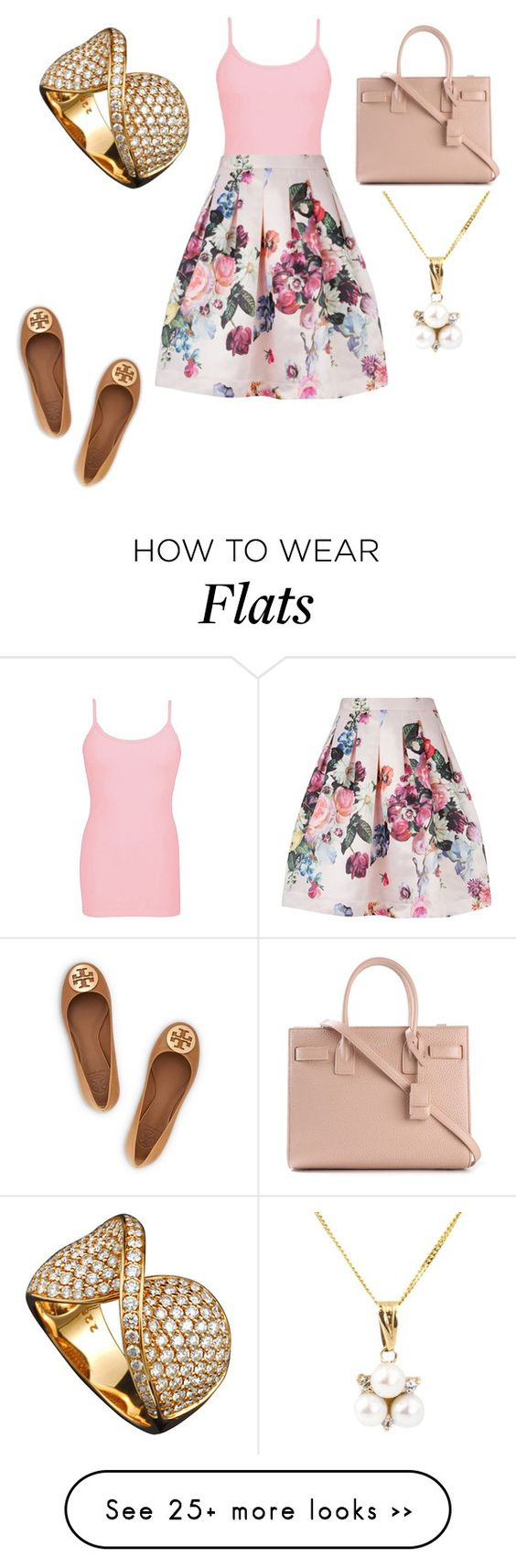 """""""Untitled #19096"""" by edasn12 on Polyvore featuring BKE core, Ted Baker, Yves Saint Laurent, A B Davis and Tory Burch"""
