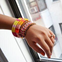 Don't spend $80 on this Dannijo friendship bracelet. Make it for less than $5! Super easy DIY.
