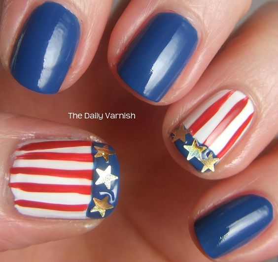 Swimmer Missy Franklin's #Olympics #Nails