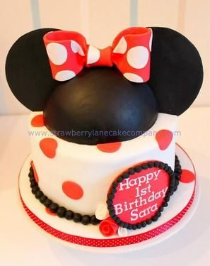 cute minnie mouse birthday cake