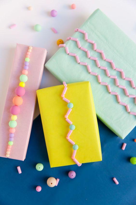 DIY | Geschenkverpackung mit Perlen