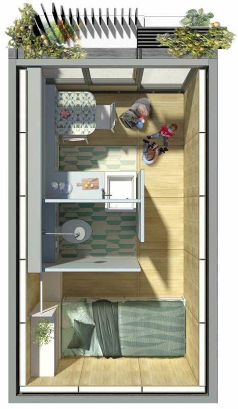 Container home plans student studio home decor for Garage con studio