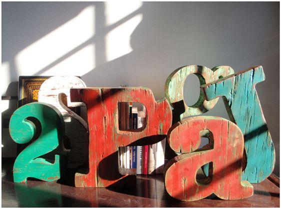 The Font Hunter  Letras para decoracion, regalo coleccionar... En Barcelona.