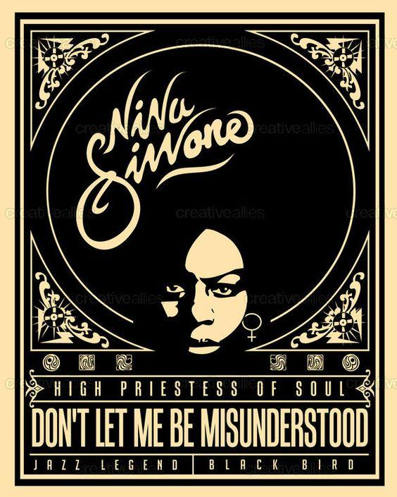 Nina Simone Poster by Lorenzo Belmonte on https://creativeallies.com/contests/773-design-a-commemorative-poster-for-nina-simone/entries