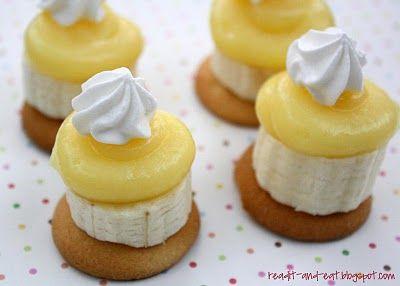 Bite size Banana Pudding...Cute!
