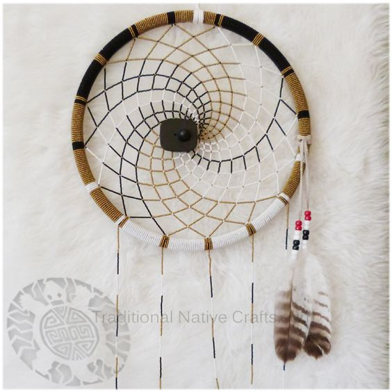 Search toile and spirals on pinterest for Dreamcatcher weave patterns