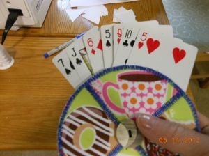 On The Go Quilting » Playing Card Holder Craft Tutorial