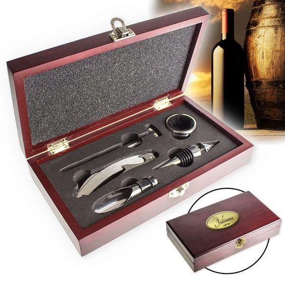 Wein Sommelier-Set - mit Gravur  via: monsterzeug.de