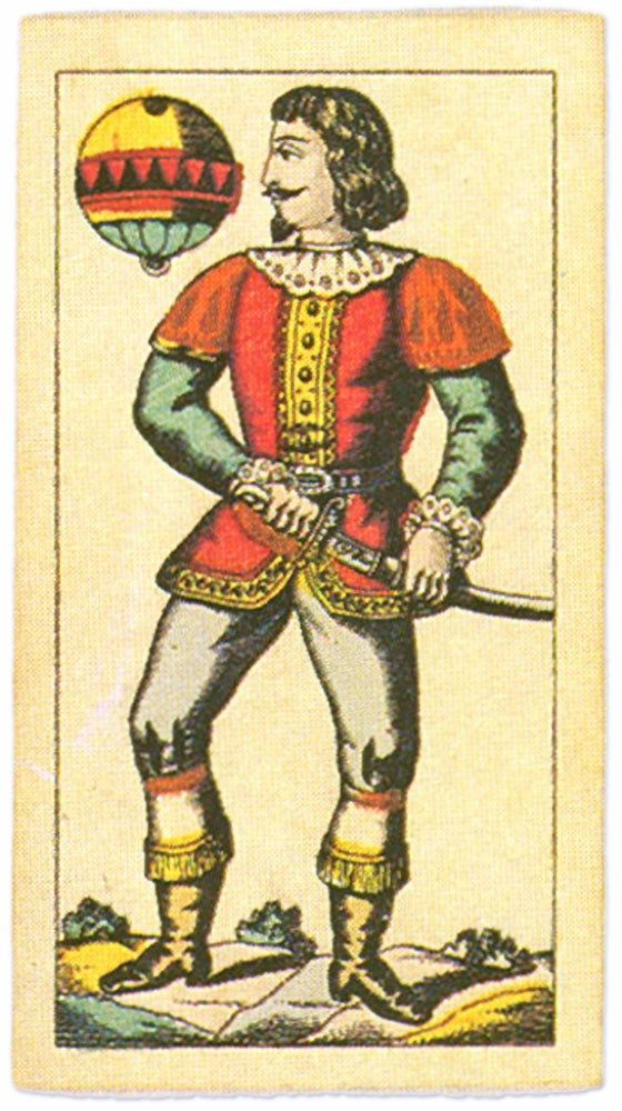 #PlayingCardsTop1000 – Titze and Schinkay Salzburg pattern – Ober of diamonds bells