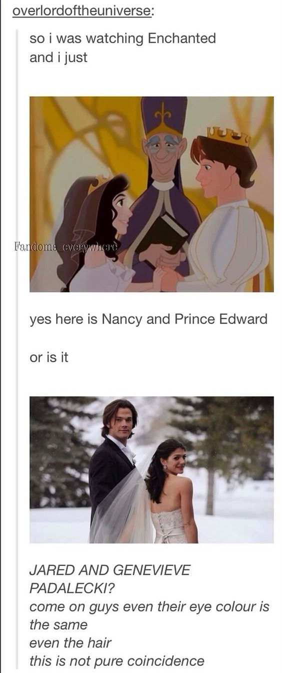 Nancy and Prince Edward from Enchanted was really Jared and Genevieve