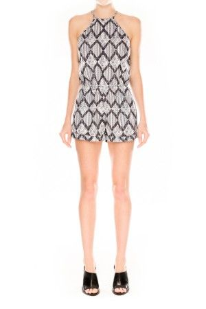 The Fifth | Behind The Sun Playsuit | Art Deco Print | Shop Now | BNKR