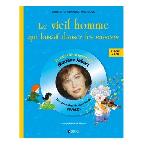 Livre-CD Marlène Jobert contes musicaux Vivaldi! Magnifique, découvrir un compositeur de musique savante de manière poétique, Marlène l'a fait !