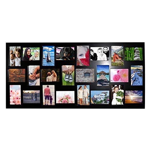 Cadre Photo Cadre Photo Cadre 12 Photos 10x15 galerie d/'images Bois Collage Noir