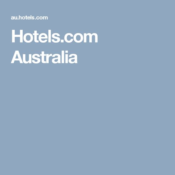 Hotels.com Australia