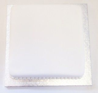 Undecorated Plain White Iced Sponge Cake Cake