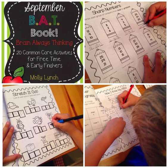September B.A.T. Book - keep your early finishers engaged with this 20 page Common Core Math & LA book!