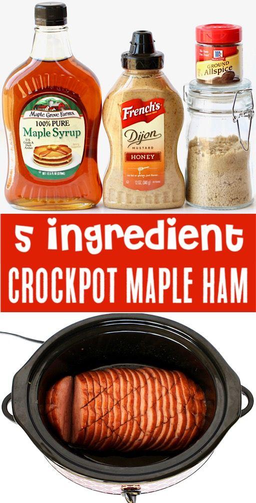 Crockpot Ham Recipes Easy Brown Sugar Maple Ham Recipe!